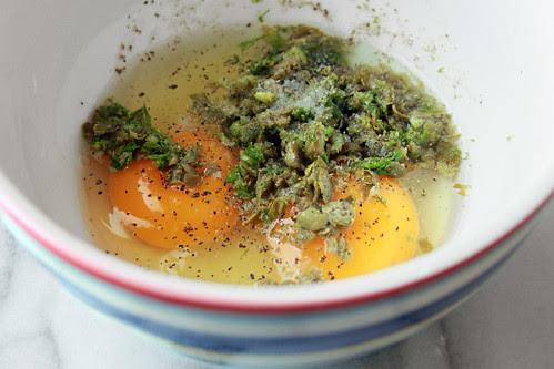 uova, capperi, finocchio