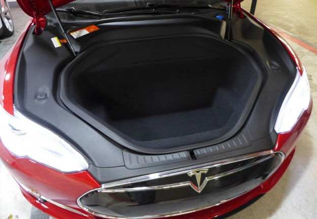 2016 Tesla Model S P90d Ludicrous Front Cargo Area For