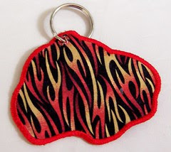 Cars Keychain - back