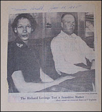 A newspaper clipping of the Lovings from the Miami Herald dated January 28, 1965