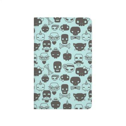 Personality Skull Pattern Journal - Mint