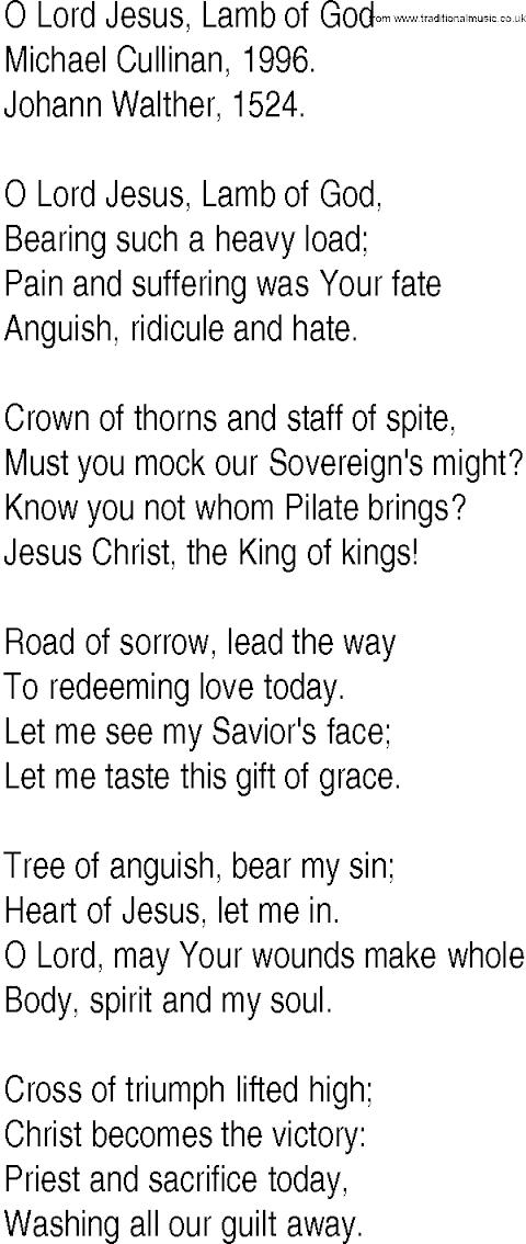 Jesus Lamb Of God Lyrics Download
