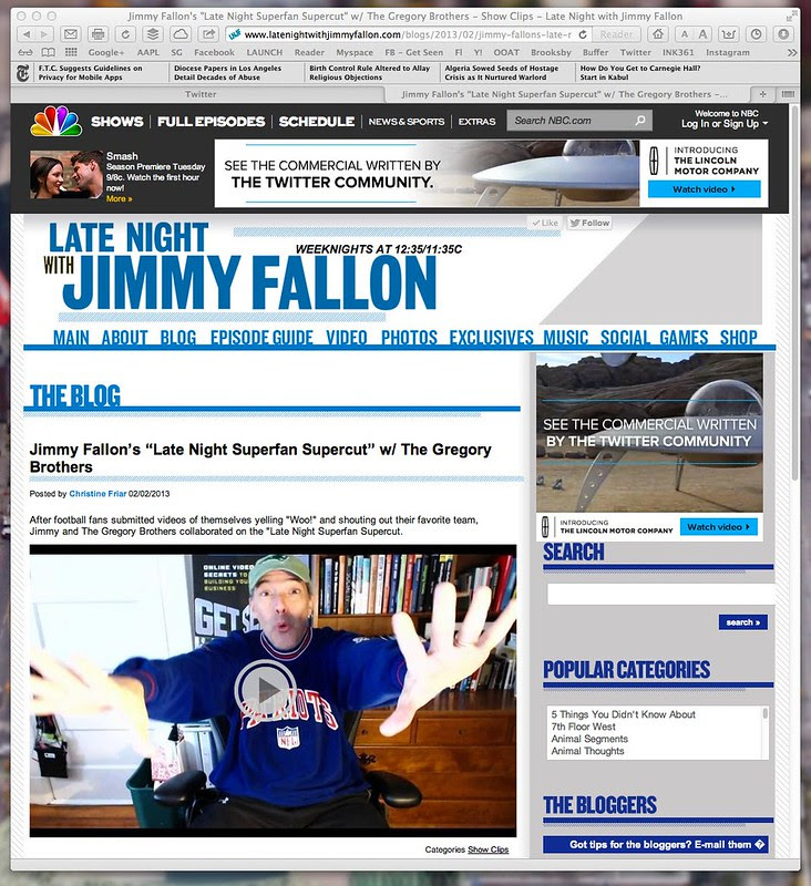 "Jimmy Fallon's ""Late Night Superfan Supercut"" w_ The Gregory Brothers - Show Clips - Late Night with Jimmy Fallon"