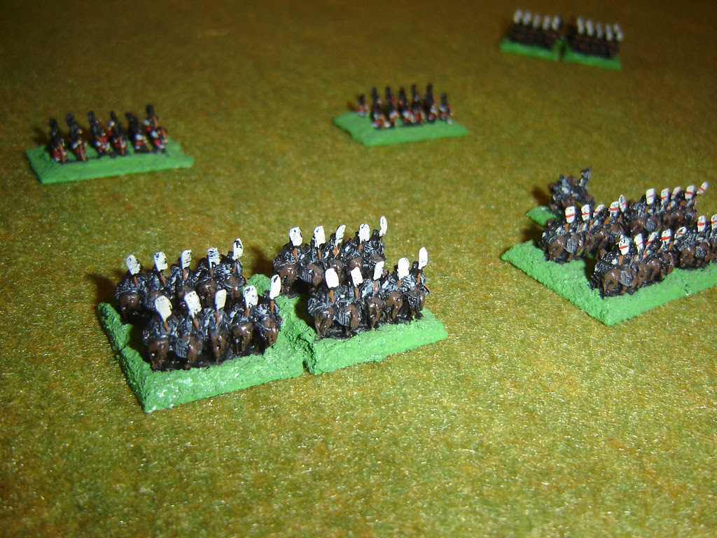 Chosokabe cavalry, having seen their lords signal turn on skirmishers behind them