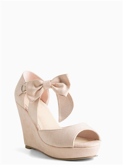 Ankle Bow Wedges (Wide Width)   shoes   Wide width shoes