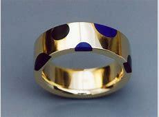 14k Gold Ring Inlaid with Black Jade and Lapis   Metamorphosis Jewelry Design