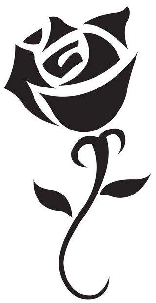 Gambar Tato Bunga Mawar Simple