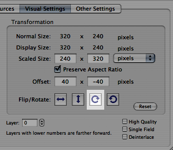 Quicktime Visual Settings
