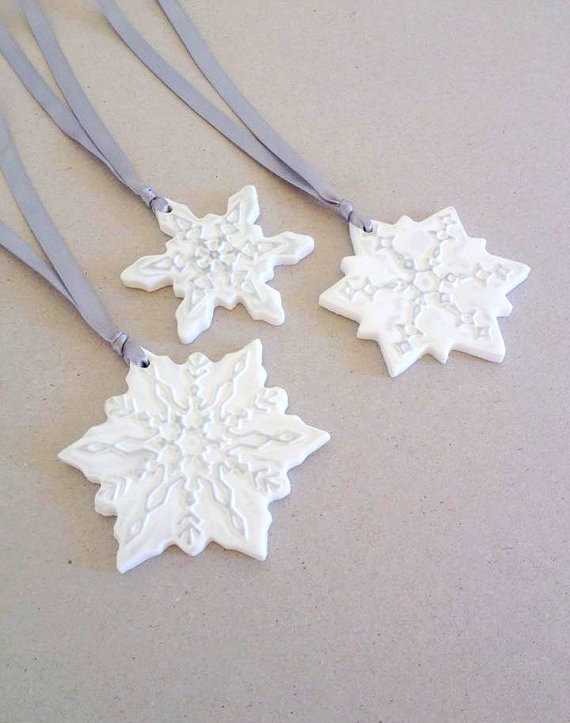 these beautiful? Add some wintery snowflakes to your Christmas