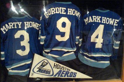 Howe Aeros jerseys IHHOF