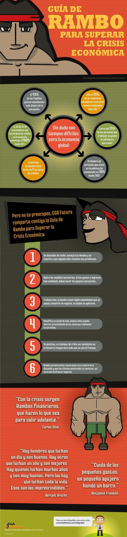Guía de Rambo para superar la crisis económica (Infografía)