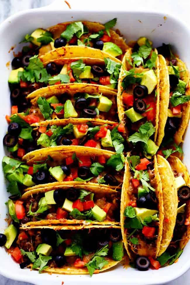Beefy Baked Tacos recipe