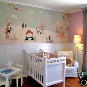 C mo decorar la casa papel pintado habitacion bebe nina - Papel pintado para habitacion de nina ...