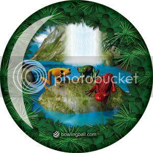 Amazon Tree Frog Viz-a-Ball bowling ball