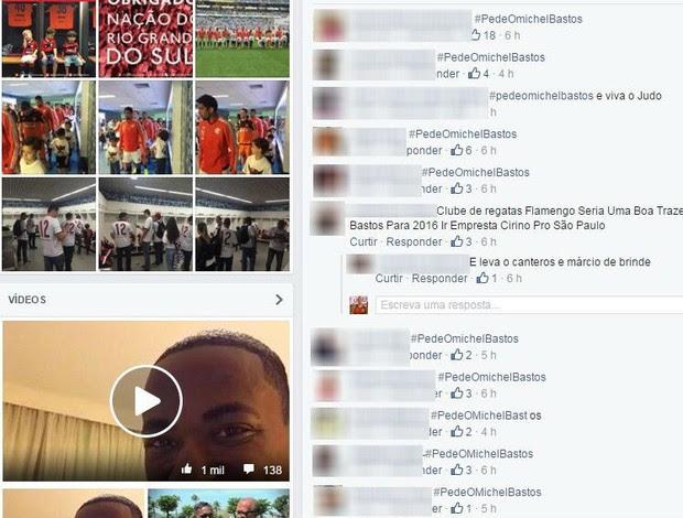 Campanha torcedores Flamengo por Michel Bastos