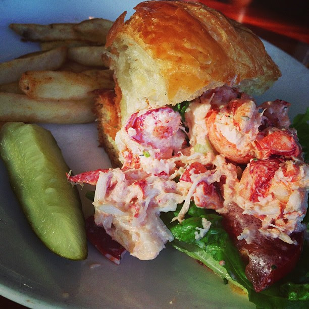 Lobster on croissant. Yum!