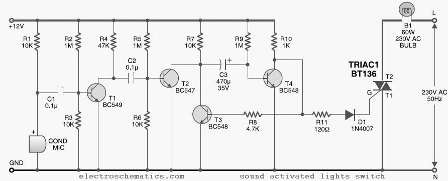 audio operating switch circuit laout