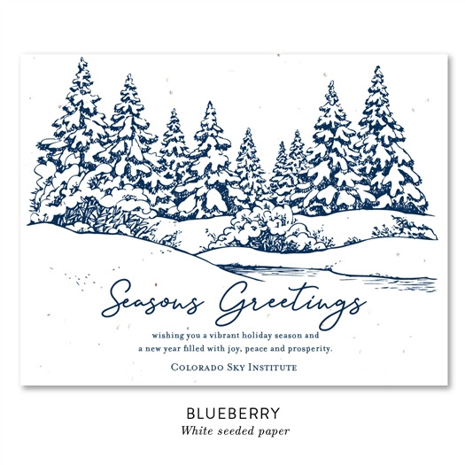 Cozy Snow Scene Greeting Card