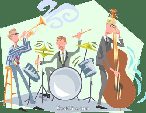 ジャズミュージシャン ロイヤリティ無料ベクタークリップアートイラスト