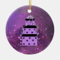 Sparkly Purple Christmas Packages Christmas Tree Ornaments