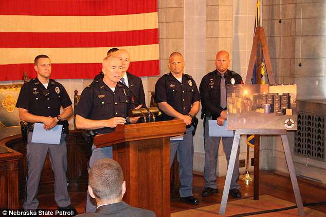 The Nebraska State Patrol was honored by the governor for the recent fentanyl and marijuana busts