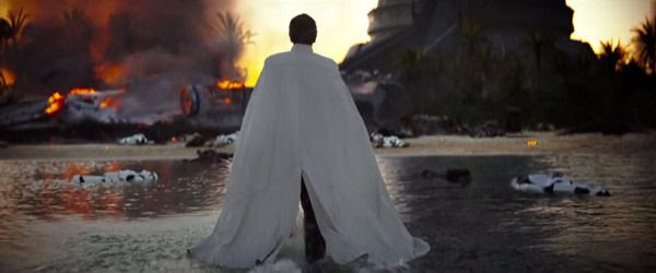 The Imperial security officer played by Ben Mendelsohn surveys the scene of the Rebel attack in ROGUE ONE: A STAR WARS STORY.