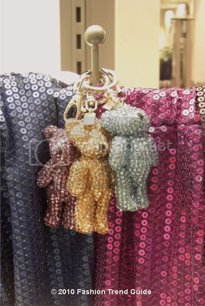 sequin scarves and keychains
