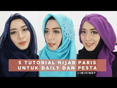 VIDEO : 5 tutorial hijab segi empat paris untuk sehari-hari dan pesta | inivindy - sebentar lagi lebaran, dan kamu yang masih bingung modelsebentar lagi lebaran, dan kamu yang masih bingung modelhijabyang simple dengan bahansebentar lagi  ...