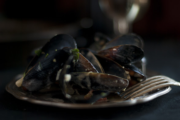 Mussels. Leftover