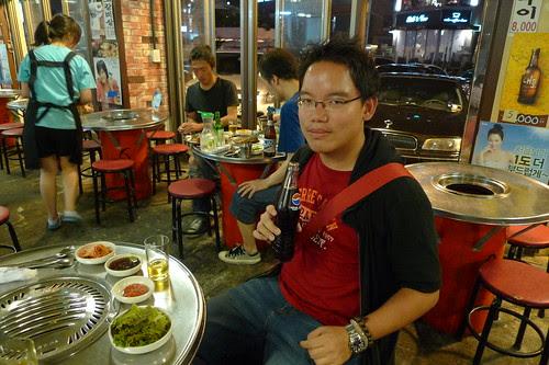 Me at Korean BBQ restaurant