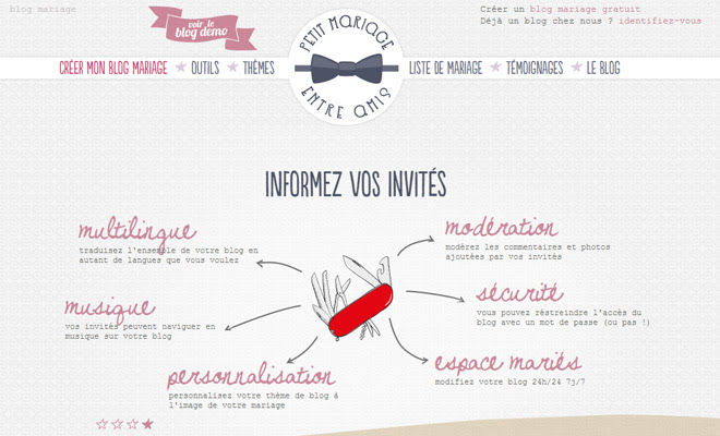 petit mariage french website pastel