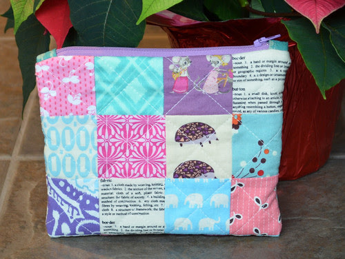 Triple Zipper Pouch back