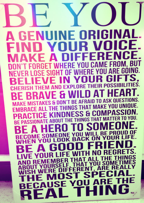 Be You A Genuine Original Find Your Voice Make A Difference