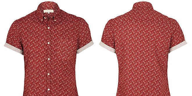 River Island Short Sleeve Paisley Shirt