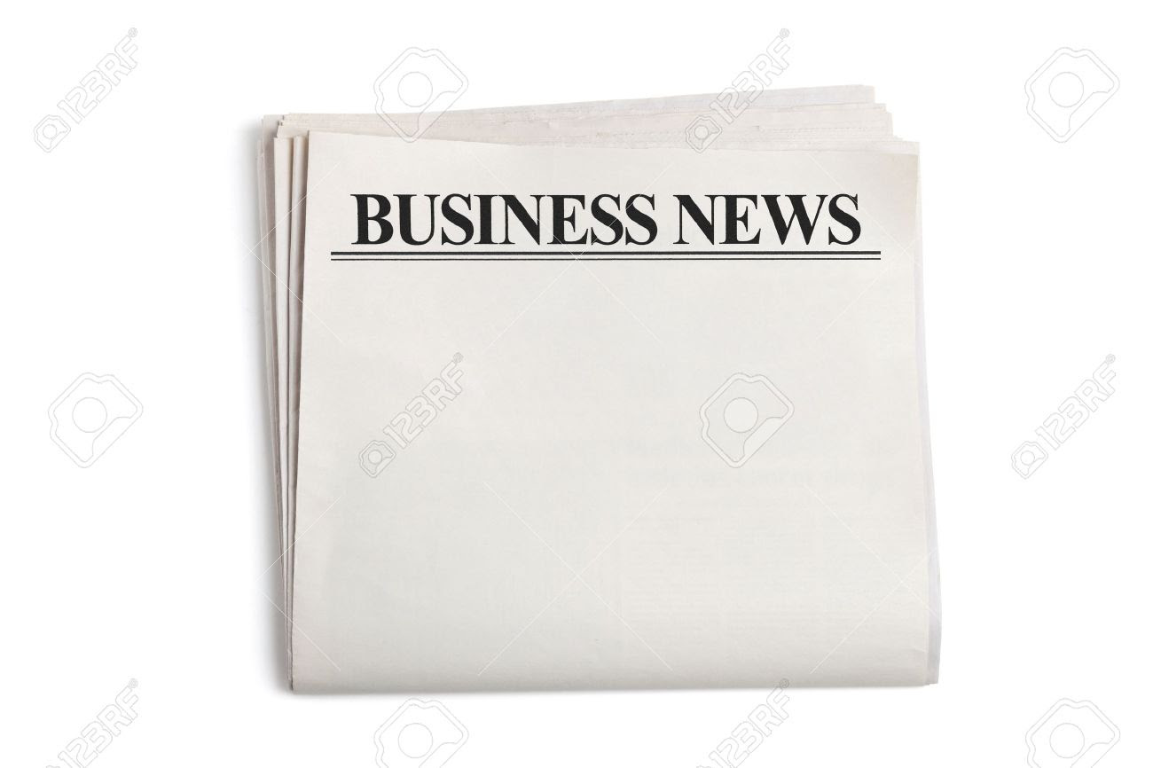 Business News, Blank Newspaper With White Background Stock Photo ...