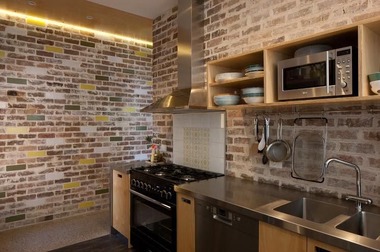 11 Desain Dapur Minimalis Dinding Batu Bata