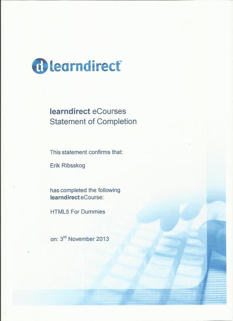 certificate learn direct