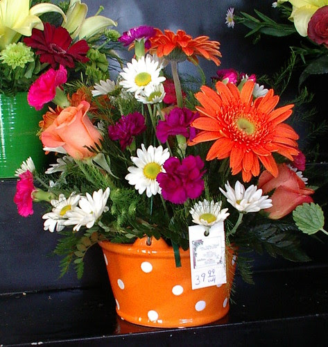 bright summer arrangement  for cooler