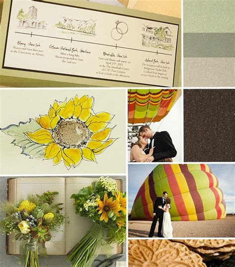 Yellow and Tan, Vintage Sunflower Wedding Invitation