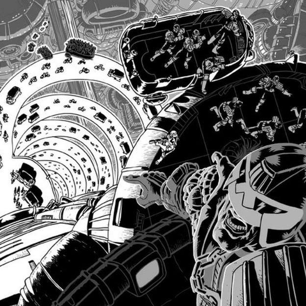 Judge Dredd in Mega-City One by D'Israeli