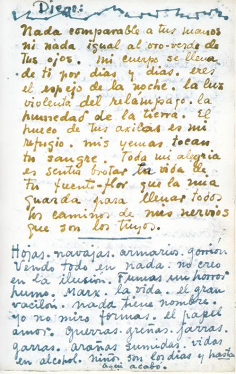 ░ Frida Kahlo to Diego Rivera