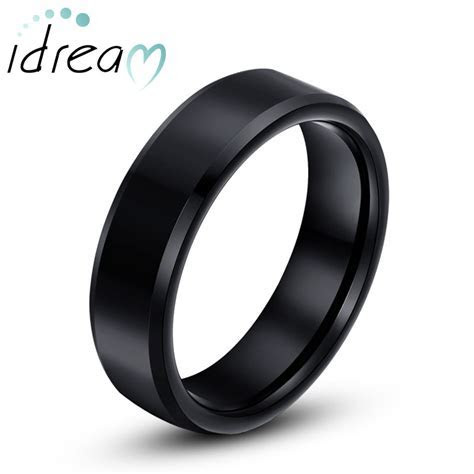Black Tungsten Wedding Bands, Personalized Tungsten