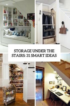 Download Under Stairs Organization Ideas Pics