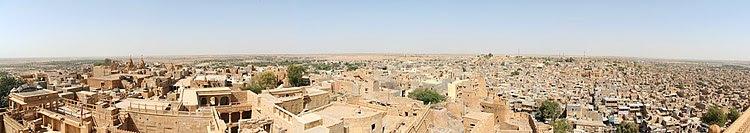 Panorama von Jaisalmer vom Dach des Maharaja-Palasts