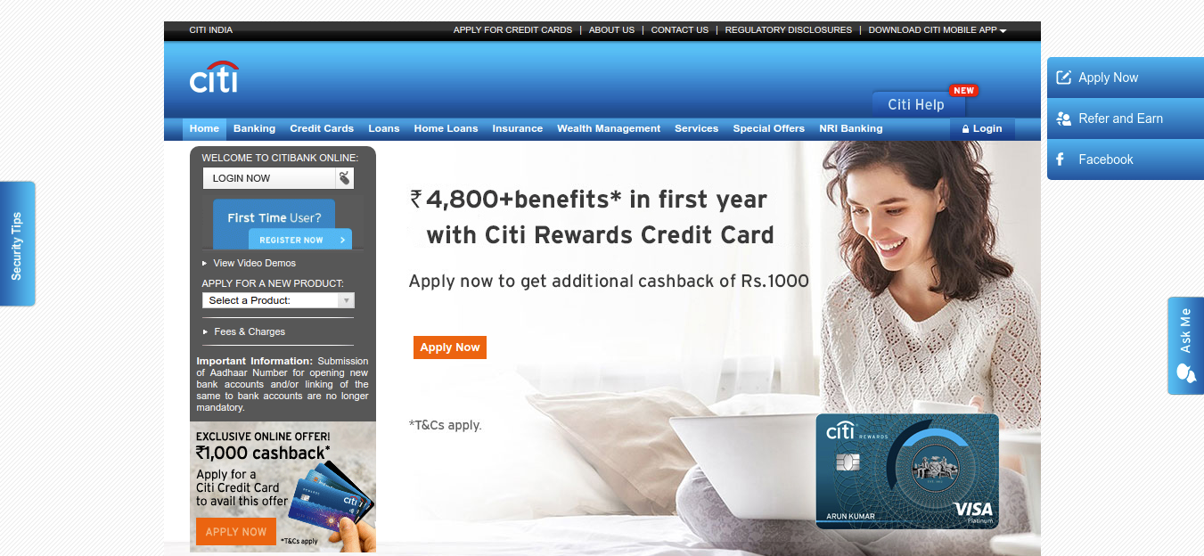 www.online.citibank.co.in - Citibank Credit Card Online Account Login - Price Of My Site