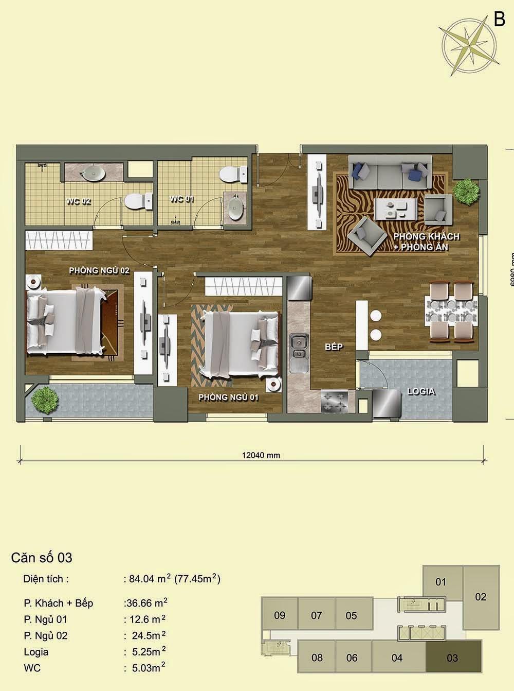Căn số 3 - Park View Residence