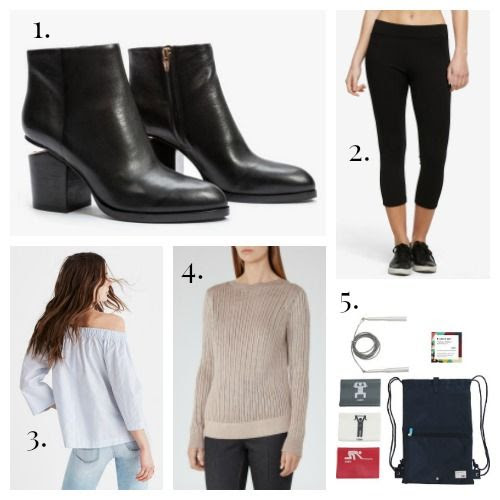 Alexander Wang Boots - American Giant Leggings - Madewell Top - REISS Sweater - Flight 001 Fitness Kit
