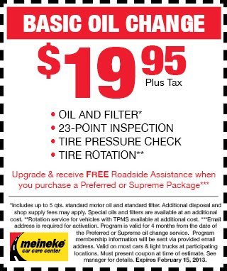 Meineke Oil Change >> Insurance Tips Oil Change Meineke
