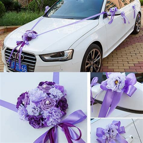 Wedding Car Ribbon Married Car Decorations Bridal Car
