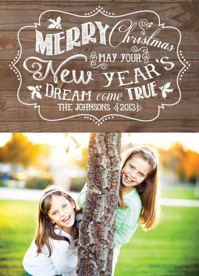 holiday photo cards - New Year's Dream